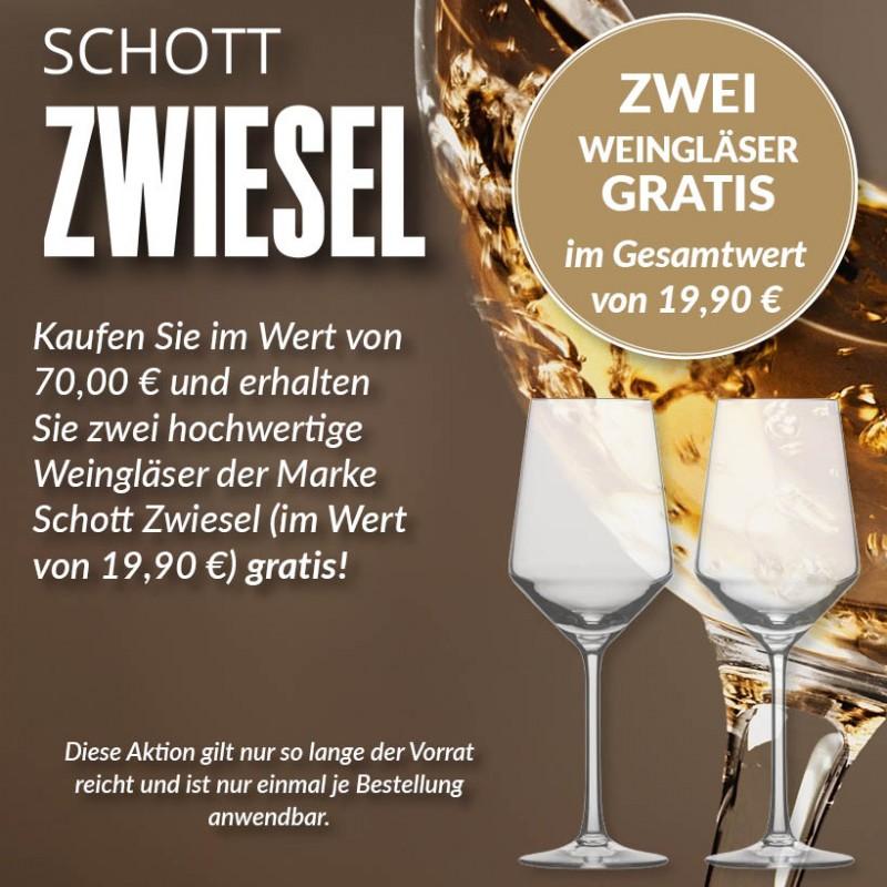 Hochwertige Schott Zwiesel Gläser gratis dazu