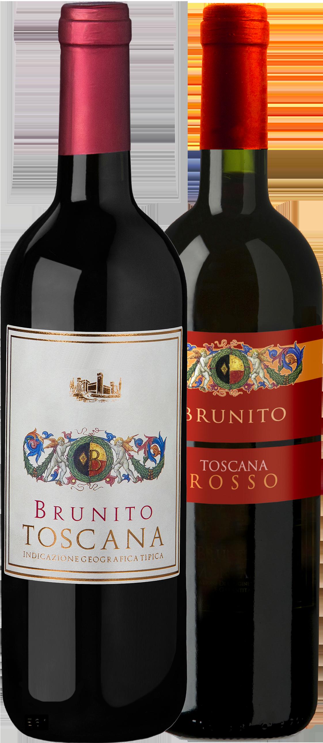 Brunito-Rosso-beide-Etikette