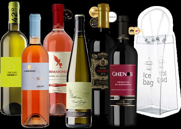 BBQ Sixpack Weinpaket