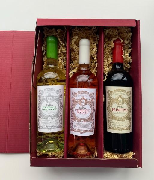 Präsent Evita - 3 Flaschen in attraktiver Geschenkverpackung