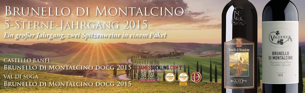 Brunello di Montalcino 5-Sterne Jahrgang 2015