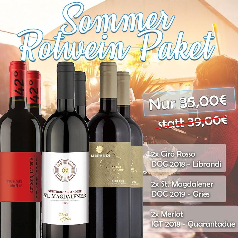 Kühle Sommer-Rotweine Paket