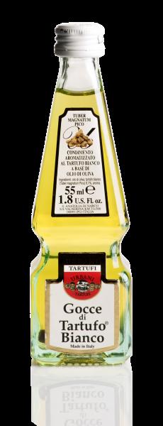 Urbani Tartufi Olivenöl mit weißen Trüffeln 55ml in Obeliskenflasche - Gocce di tartufo bianco
