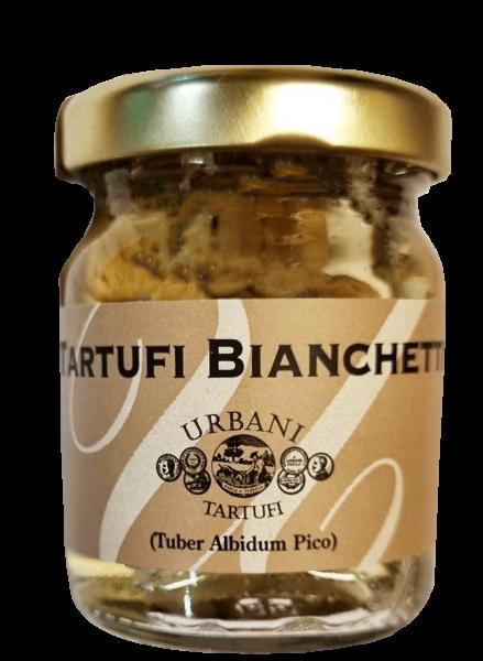Urbani Tartufi ganze Bianchetti-Trüffel - Tartufi bianchetti interi 18g im Glas