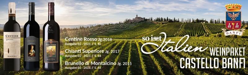 So is(s)t Italien Castello Banfi Weinpaket