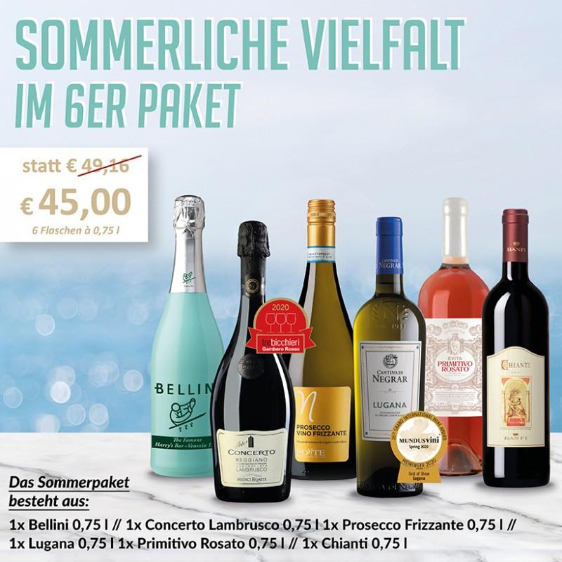 Sommmerliche Vielfalt Weinpaket