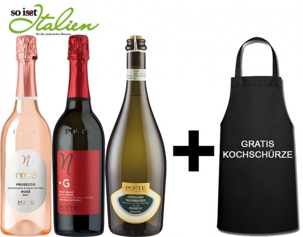 So is(s)t Italien Viticoltori Ponte-Paket + GRATIS Kochschürze
