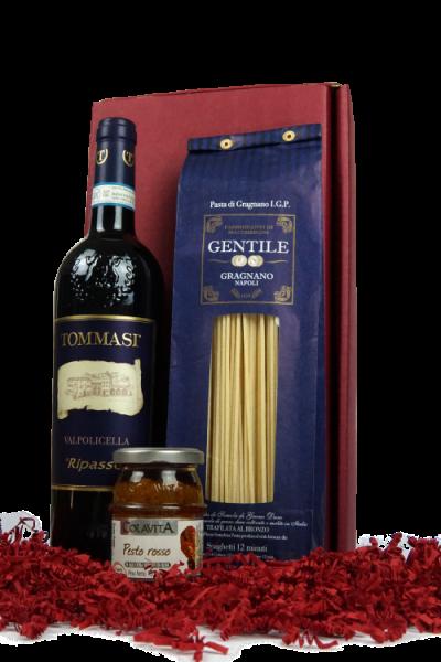 """Präsent """"Buon appetito"""" - Wein und Feinkost in hochwertiger Geschenkverpackung"""