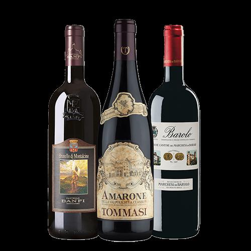 Die drei großen Roten Italiens - Amarone della Valpolicella Classico, Brunello di Montalcino, Barolo