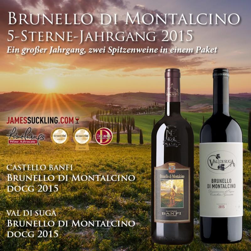 Brunello 5-Sterne 2015 Jahrgang Paket